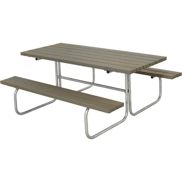 Plus Classic bord-bænkesæt, Gråbrun