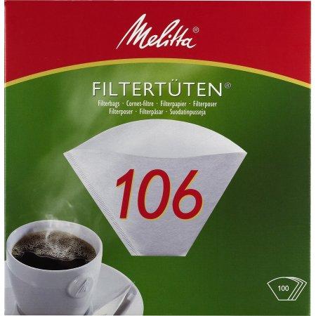 Melitta kaffefilter, hvid, 100 stk.