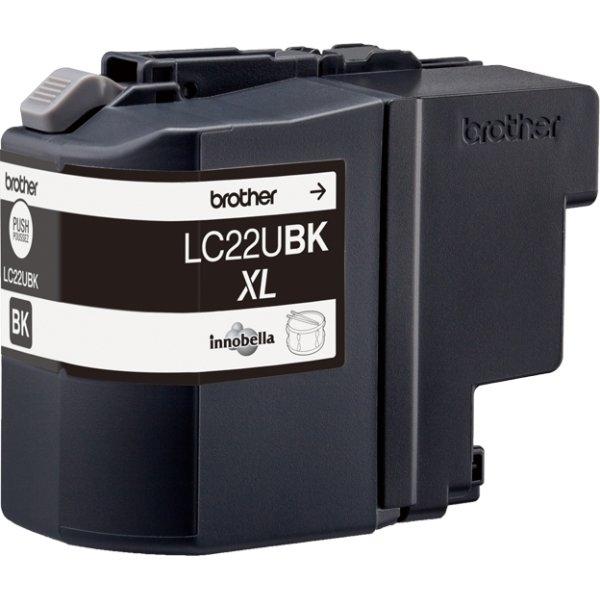 Brother LC22UBK XL blækpatron, sort, 2400s