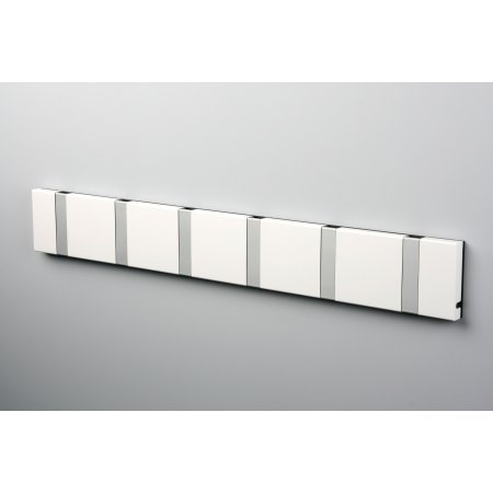 KNAX 6 knagerække, vandret, hvid/grå