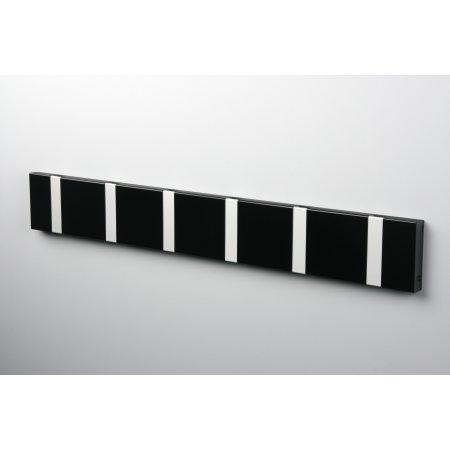 KNAX 6 knagerække, vandret, sort/grå