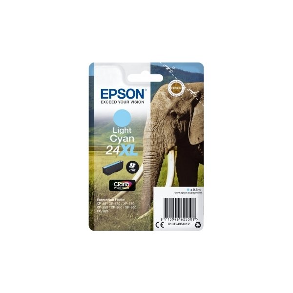 Epson Nr.24XL blækpatron, lyseblå