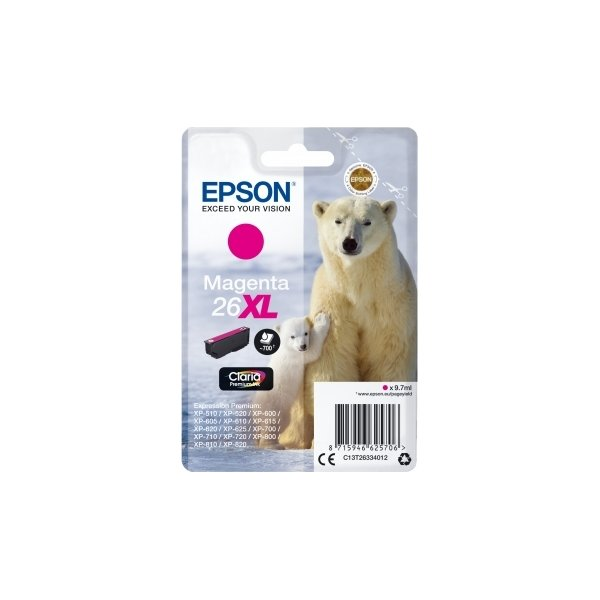 Epson 26XL blækpatron, 700s, rød