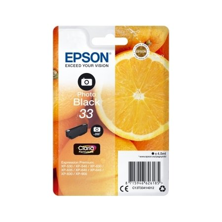 Epson 33 blækpatron, foto-sort