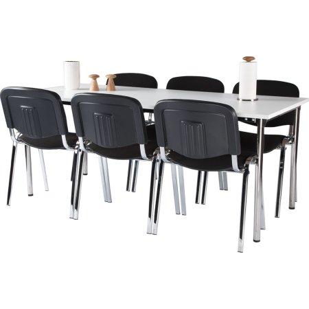 Casa Basic kantinesæt m. 6 stole og bord 180x80 cm