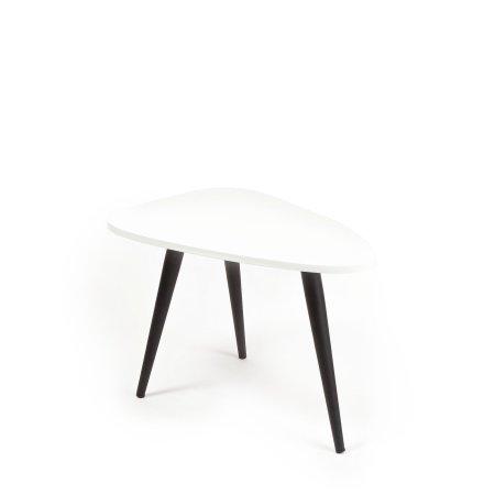 Bello Lounge bord, 70x50 cm, højde 30 cm, Hvid