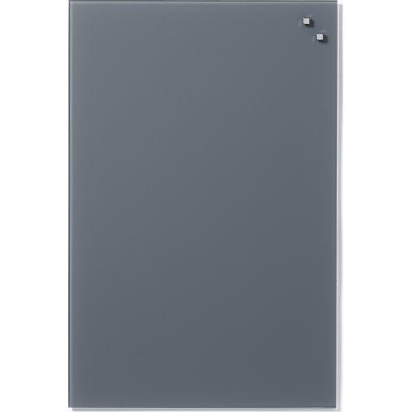 Glassboard magnetisk glastavle 40 x 60 cm, grå
