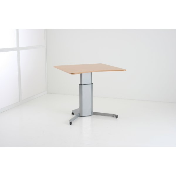 Compact hæve/sænke bord 100x100 cm, ahorn/alu