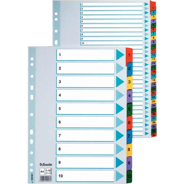 Esselte Mylar register A4, 1-10
