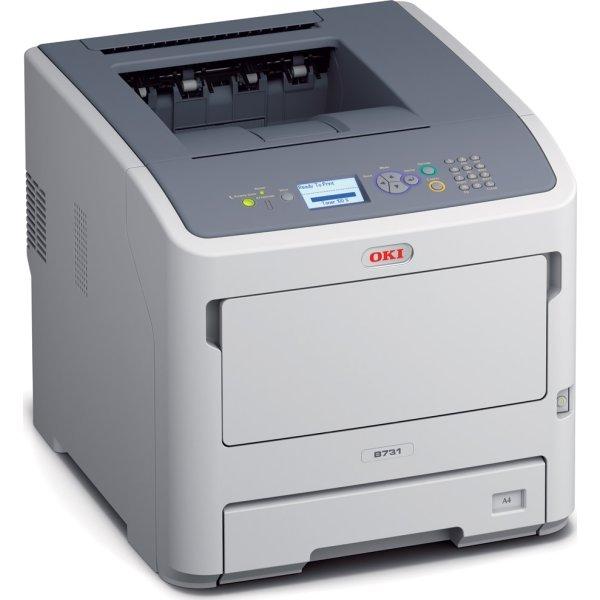 OKI B731dnw sort/hvid A4 printer med Wi-Fi