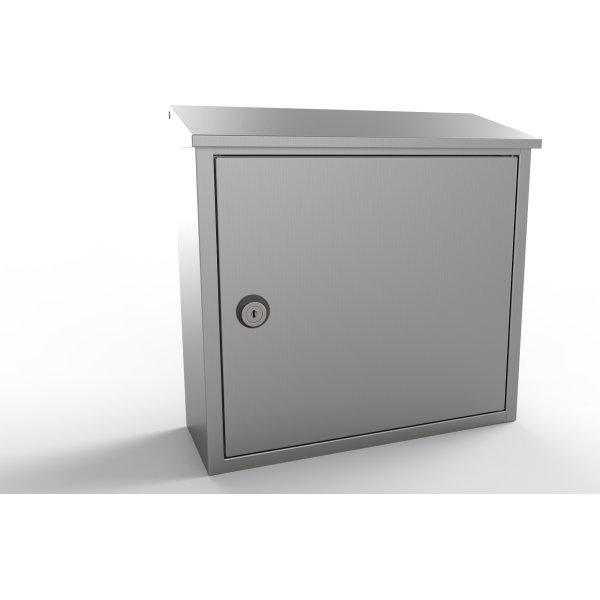 Allux 400 Postkasse, rustfrit stål
