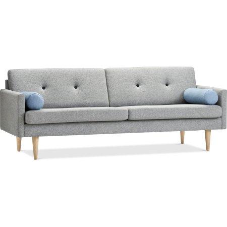 Ypperlig Stouby Jive Sofa 3 pers, Grå, L 223 cm - Fri Fragt! JX-63