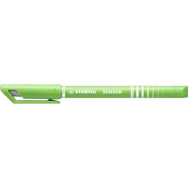 Stabilo Sensor Fiberpen, lysegrøn