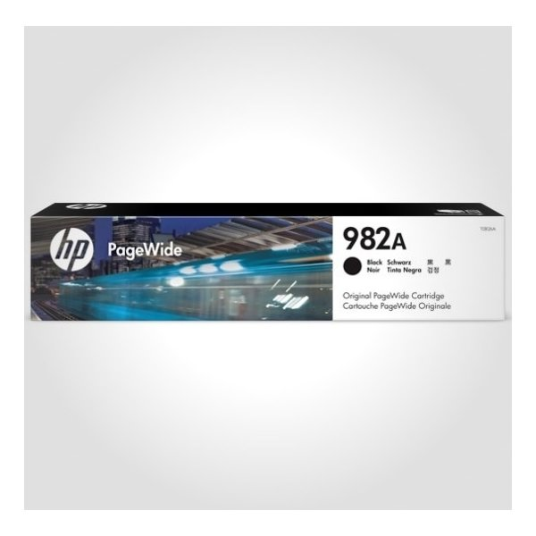 HP 982A PageWide blækpatron, sort, 10.000s
