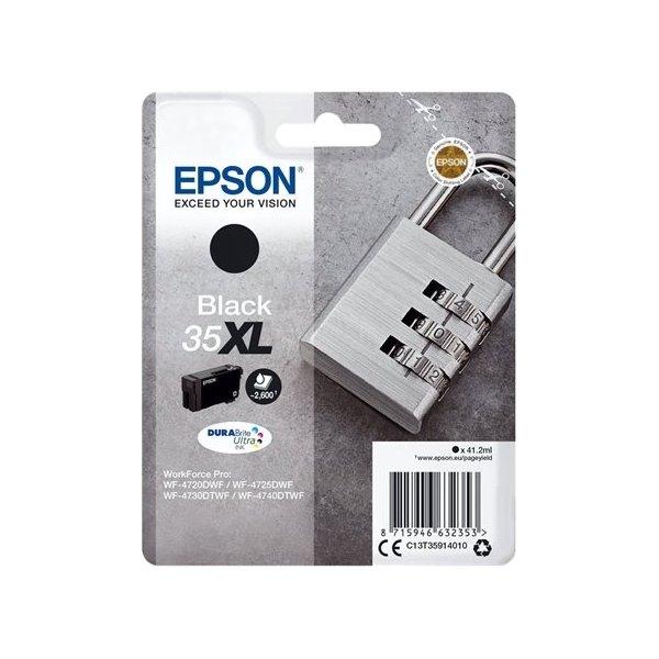 Epson 35XL blækpatron, sort, 2600s