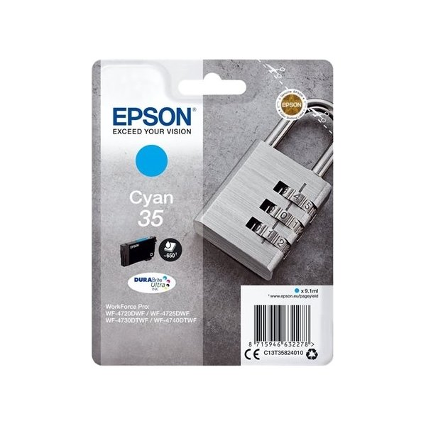 Epson 35 blækpatron, cyan, 650s