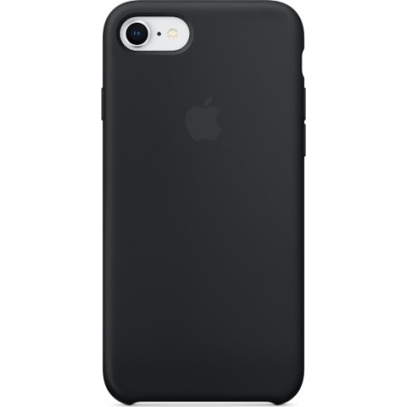 Apple iPhone 8 silikone cover, sort