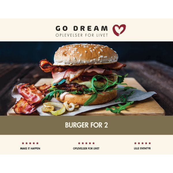 Oplevelsesgave - Cafeburger for 2