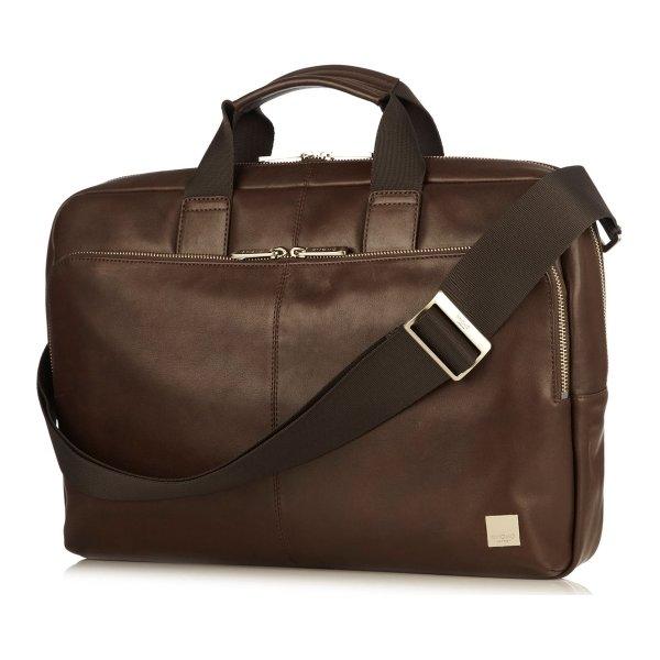 "Knomo Newbury briefcase 15"" computertaske, brun"