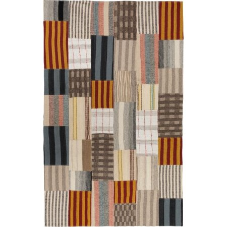 Fargo patchwork tæppe, 170x200 cm., multifarve