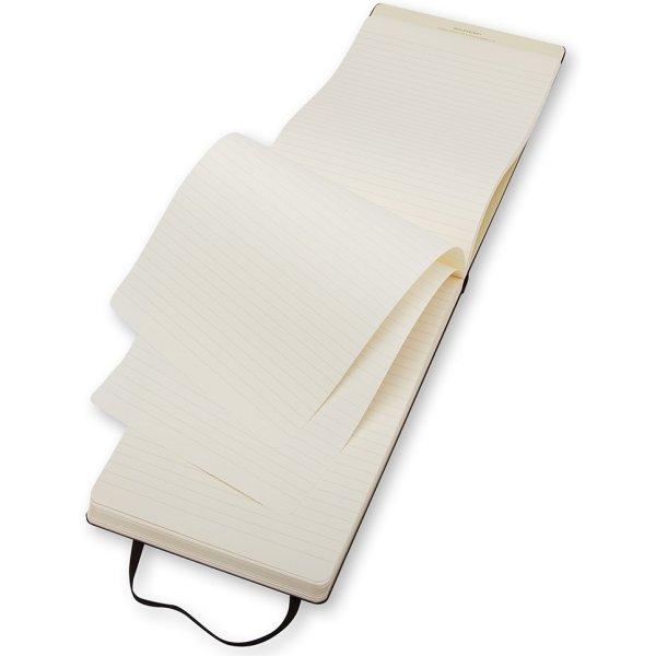 Moleskine Rep. Hard Notesbog Large, linjeret, sort