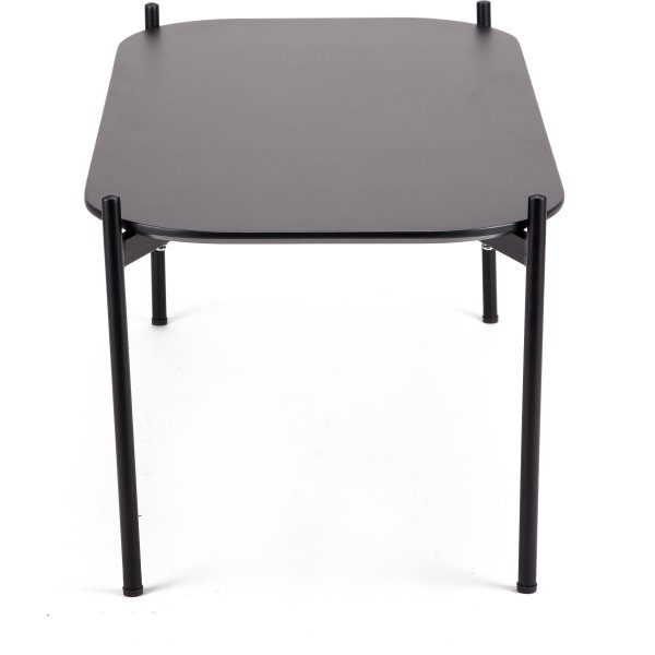Ziggy lounge/sofabord, 50x50x40 cm, sort laminat
