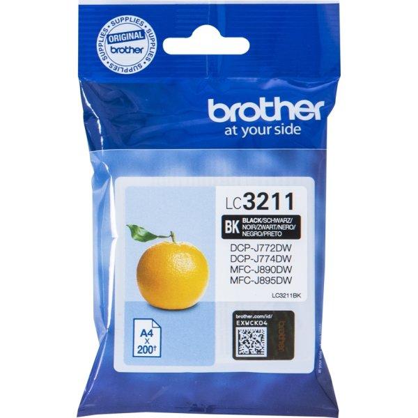 Brother LC3211 blækpatroner, sort, 200s