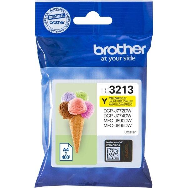 Brother LC3213 blækpatroner, gul, 400s