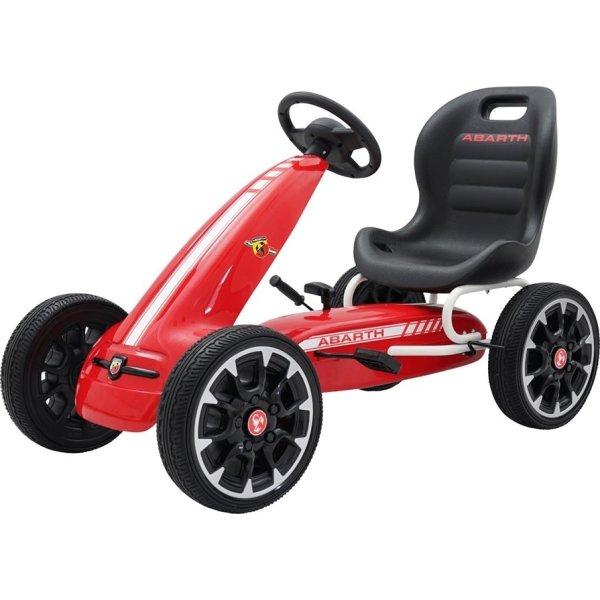 Abarth pedal-Gokart med gummidæk, rød