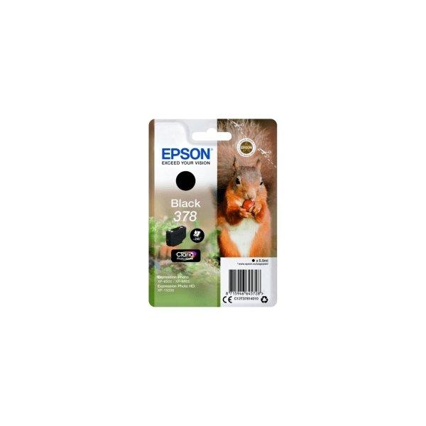 Epson T378 blækpatron, sort, 5.5 ml