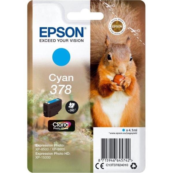 Epson T378 blækpatron, cyan, 4.1 ml