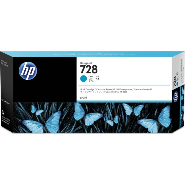 HP nr.728/F9K17A blæk, cyan, 300ml