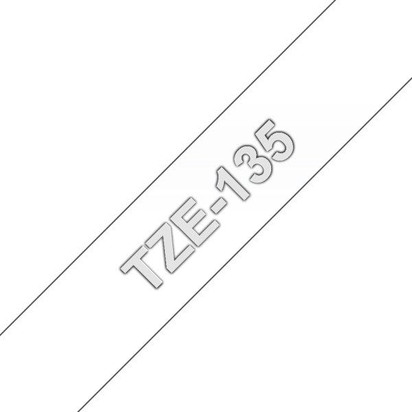 Brother TZe-135 hvid tekst klar tape