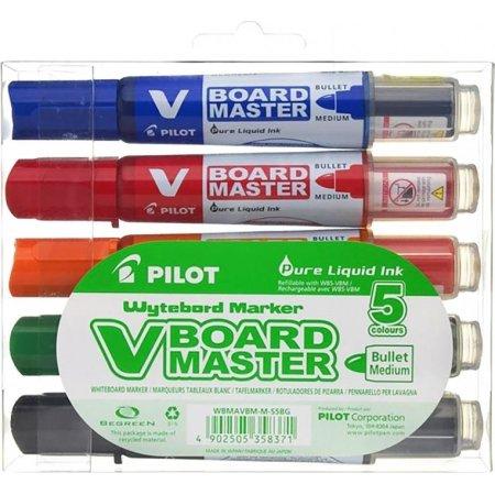 Pilot BeGreen whiteboardmarkersæt, 5stk, ass 2,2mm