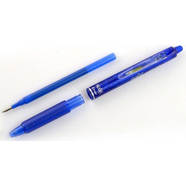 Pilot Frixion Clicker kuglepen, 0,7 mm, lyseblå