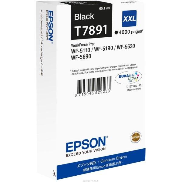 Epson T7891/C13T789140 XXL blækpatron, sort, 4000s