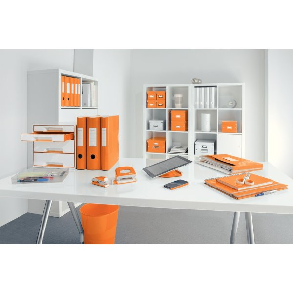 Leitz WOW Mini hul & hæft sæt, orange metallic