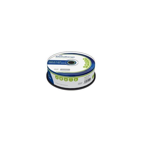 MediaRange DVD-R 16x 4.7GB spindle, 25 stk