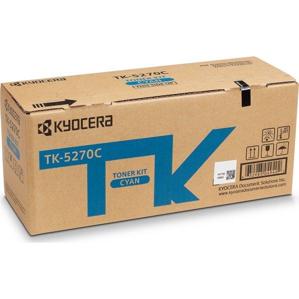 Kyocera TK-5270C Lasertoner, Cyan, 6.000s