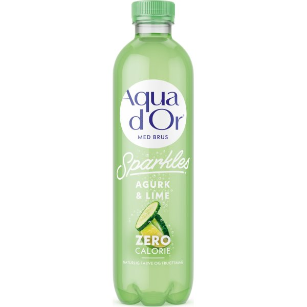 Aqua D'or Sparkles Agurk & lime, 0,5 l