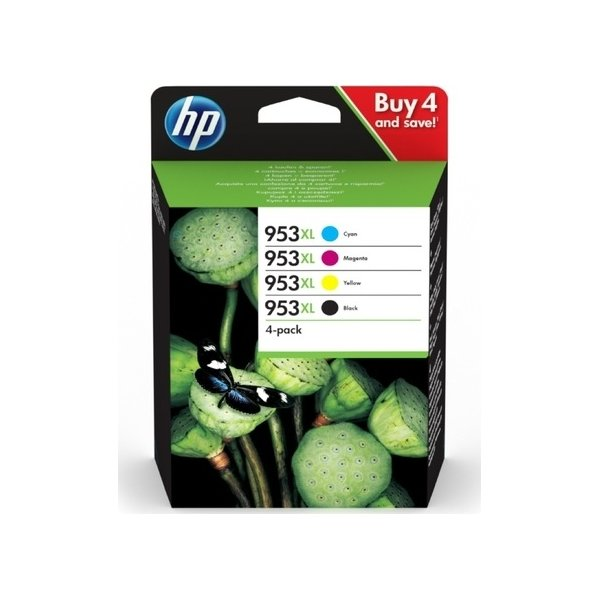 HP 953XL C/M/Y/K blækpatroner, sampak