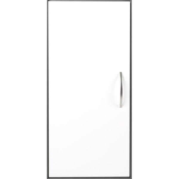Stay dør t/2 rum i højden inkl. lås, V. hvid