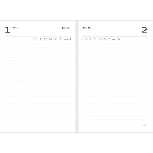 Mayland 1-års dagbog uden årstal, A5