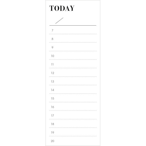 Mayland Today Do it, to-do liste, 50 x 170 mm