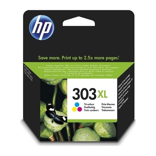 HP No303XL tri-farve blækpatron, blister, 10ml