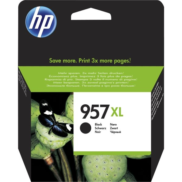 HP No957XL blækpatron blister, sort, 3.000s