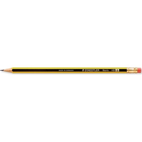 Staedtler Noris blyant 122-HB m. viskelæder