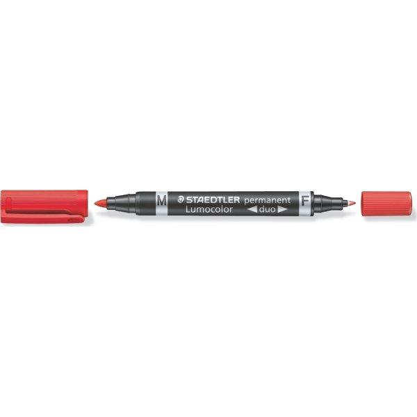 Staedtler Lumocolor Duo Marker 348, perm, rød