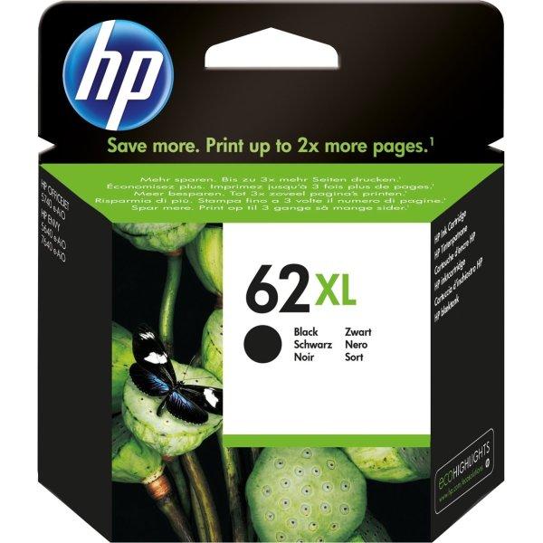 HP No62XL blækpatron, blister, sort, 600s