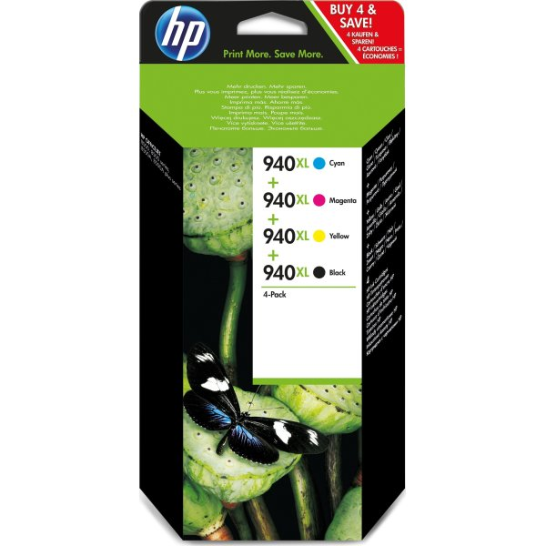 HP No940XL CMYK blækpatroner, sampak